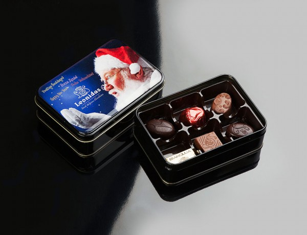 Tin six chocolates Leonidas