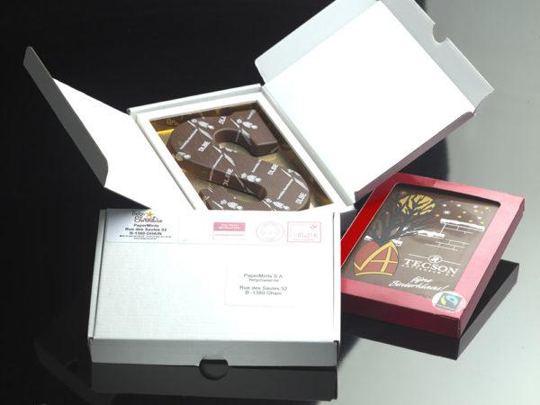 Printed chocolate card