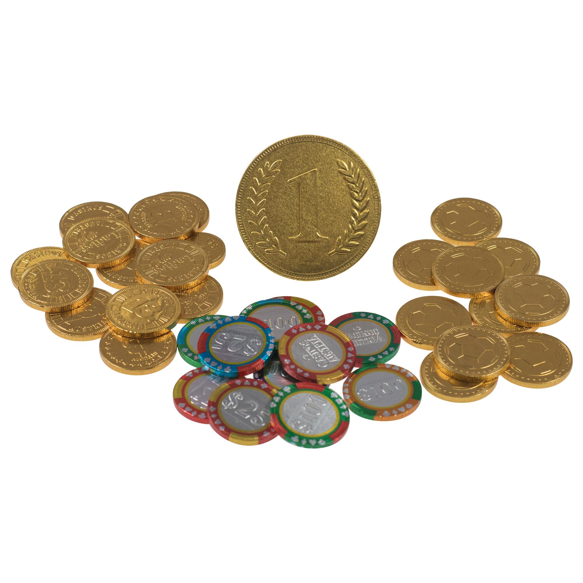 Pièces de monnaie en chocolat