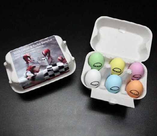 EASTER BOX WITH 6 QUAIL EGGS