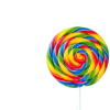tasty-appetizing-party-accessory-sweet-swirl-candy-lollypop-on-green-background-top-view_1220-1684