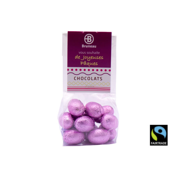 Chocolate Eggs sachet medium Fairtrade