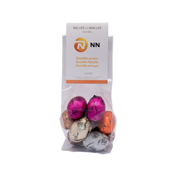 Chocolate eggs sachet