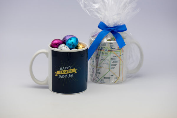 Mug gift of 24 chocolate eggs